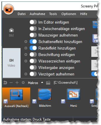 Screeny Professional full screenshot
