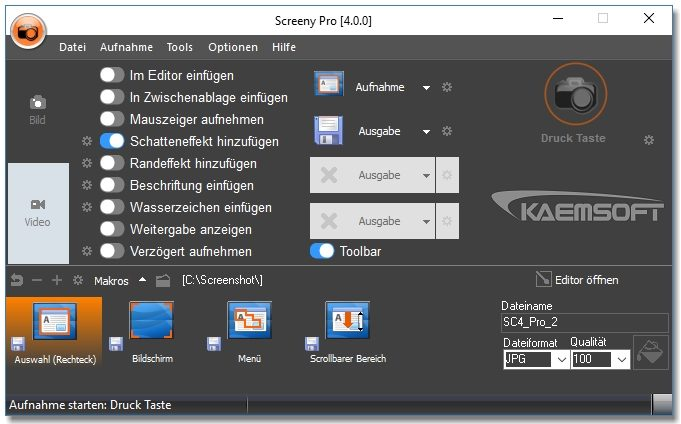 Screeny Professional screenshot